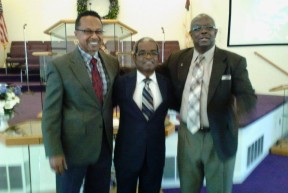 Pastors Sylvien and Ricks, Deacon Parker